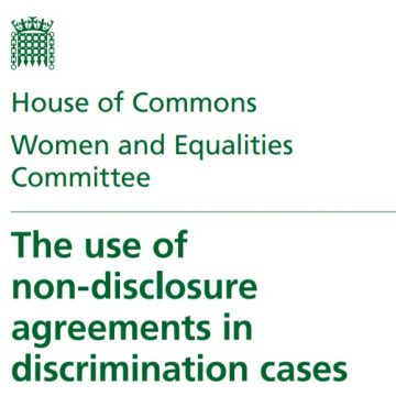 Read the Women and Equalities Committee's recent report on the use of NDAs in discrimination cases which our Founding Trustee Nathalie Abildgaard has contributed to.